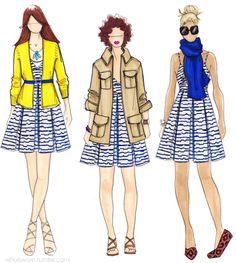 http://whatiwore.tumblr.com/post/5012055466/printed-sundress-three-ways love these ideas