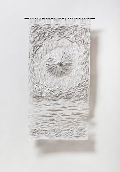 Textural Monochrome Hand-Torn Paper Tapestries Inspired by Nature - Tapestry Tapestry Nature, White Acrylic Paint, Torn Paper, Paper Artist, Creative Inspiration, Paper Cutting, Paper Flowers, Monochrome, Artsy