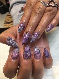 Pin By Su Fang Zheng On Nails Pink Nail Art Designs Marble Nail Designs Purple Nail Designs