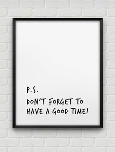 have a good time print // motivational poster // black and white home decor print // modern wall decor // typographic print Quotes White, Gym Quote, Typographic Poster, White Home Decor, Black Decor, Lettering, Typography, White Houses, Modern Prints