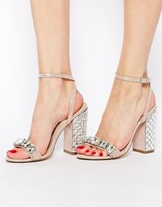 Image 4 of ASOS HONEY POT Heeled Sandals