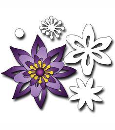Elizabeth Craft Designs Metal Die Flower Set 1