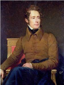 Alphonse de Lamartine (21 oktober 1790 – 28 februari 1869) Portret door François Gérard, 1831