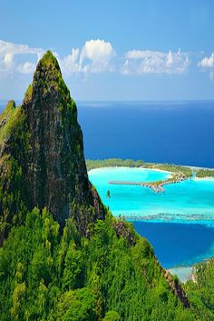 Bora Bora, Tahiti, French Polynesia © G. Le Bacon || Places to #getlucky brought to you by your friends at luckybloke.com