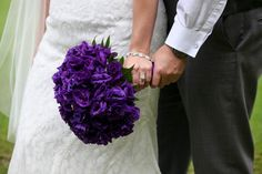 Stunning Purple Bridal Bouquet featuring Lisianthus.  Wedding Flowers by Lexington Floral in Shoreview, MN.