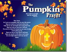 the pumpkin prayer halloween - Christian Halloween Stories