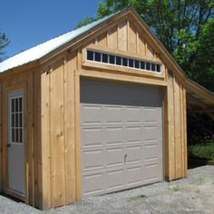 14x20 One Bay Garage - Can be ordered with an 8x20 Overhang