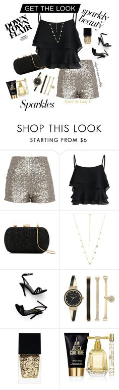 """""""Girls Night Out"""" by claytonsarewealthy ❤ liked on Polyvore featuring Chicwish, Le Lis Blanc, Kendra Scott, LULUS, Anne Klein, Witchery, Juicy Couture, DateNight, NightOut and party"""