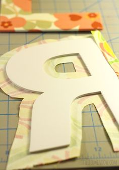 14 Ways to Decorate Cardboard Letters