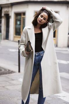 Cream Coat | Blue Jeans | Paris | Style | Outfit | HarperandHarley