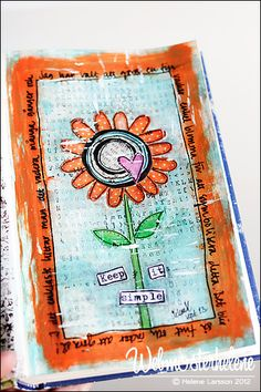 going to try my hand at mixed media - this looks like a good simple piece to learn from