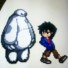Big Hero 6 perler bead sprites by pixelpinoy