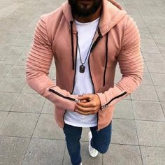 Plus Size Men s Hoodies Tracksuit 2018 Casual Drawstring Front Pockets Long  Sleeve Sweatshirt Male Zipper Slim Solid Color Coat 8377ab12d