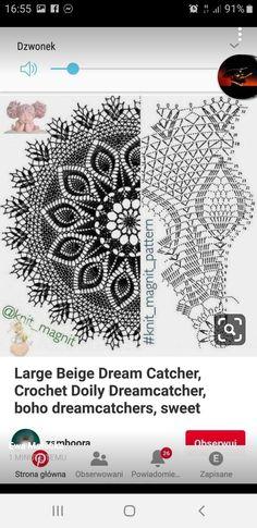 Crochet Doily Patterns, Crochet Doilies, Knitting Patterns, Large Dream Catcher, Mandala, Beige, Boho, Handmade, Etsy