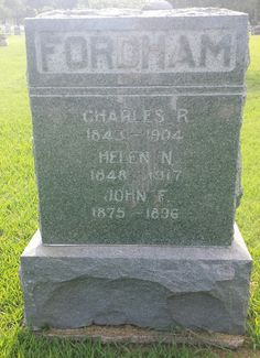 ABT UNK: Tombstone Tuesday: Fordham Family, Maple Grove Cemetery, Wichita, Kansas  #genealogy