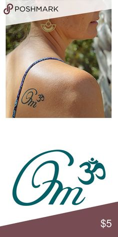"NEW 2 Pack Temporary Tattoo in ""Om"" NEW 2 pack of temporary tattoos. Get your inner peace on with this beautiful ""Om"" tattoo. Each tattoo lasts about 4 days depending on placement and care. Application instructions included. Easy on and off. Conscious Ink Accessories"