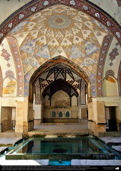 Arquitectura islámica- Una vista parcial del Jardín Fin o Bagh-e Fin-Kashan-Irán. Es un jardín persa histórico - 221 | Galería de Arte Islámico y Fotografía