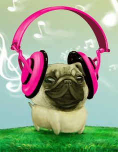 happy pug by ~godfreyescota