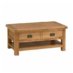 Caldecote French Grey Coffee Table with Drawers