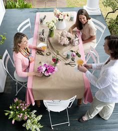 Throw a Springtime Party and Make Beautiful Bouquets