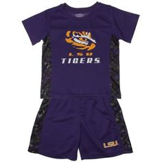 LSU Tigers Toddler Double Play T-Shirt and Shorts Set – Purple