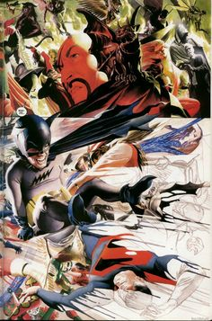 Superman-Batman - Worlds Funnest//DC/Alex Ross Comic Book Artists, Comic Artist, Comic Books Art, Bob Kane, Alex Ross, Dc Comics, Batman Art, Superman, Comics