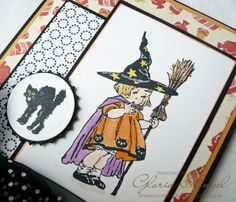 Card by Gloria Stengal using Halloween Fun Clear Art Stamps from Crafty Secrets
