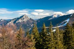 View at Peak Velky Rozsutec on the right side. You can´t hike to this peak from March till June, because the trail is closed. The eagles use to nest on the steep cliffs of this peak. Mount Rainier, Eagles, 30th, Nest, Trail, Wolf, National Parks, Hiking, March