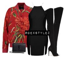 """-"" by roexstylez89 ❤ liked on Polyvore featuring Dolce&Gabbana, Gianvito Rossi, Topshop and Yves Saint Laurent"