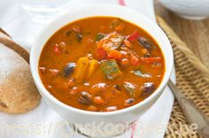 Minestrone Soup [Bean,Zucchini Soup] Stock Image - Image of delicious, pepper: 25481985 Stuffed Pepper Soup, Stuffed Peppers, Santa Fe Soup, Soup Stock Image, Healthy Soup, Healthy Recipes, Zucchini Soup, Zucchini Bread, Soup Beans