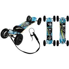 The Atom 95X recreational freeride/freestyle mountain board from MBS is the perfect board for entry-level riders who want to experience the sport of mountainboarding. This quality board has everything you need for maximum fun and performance.