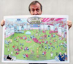 Cartoon Posters, Cartoons, Gary Clark, Funny Character, A3, Humor, The Originals, Shop, Prints
