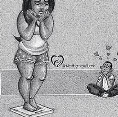 She dont be knowing guys just love you the way you are. Pictures With Meaning, Cute Pictures, Really Love You, Big Love, Short Stories, True Stories, Curves Quotes, Plus Size Art, Working On Me