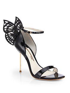 pinterest.com/fra411 #shoes #heels Sophia Webster - Flutura 4 Butterfly Patent Leather Sandals
