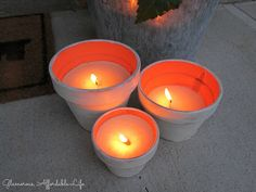 Glamorous, Affordable Life: { DIY Rustic Citronella Candles }