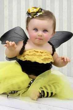 Bumble Bee Tutu Halloween Costume READY to by VioletsVelvetBox, $49.50