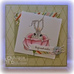 Stampin with Inky Fingers: Hugs and Wishes to SomeBunny #ADFD #ADayForDaisies