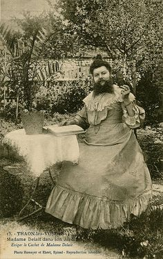 """"""" Clémentine Delait (March was a French bearded lady who kept a café. Clémentine Delait and her husband kept a café in Thaon-les-Vosges, in Lorraine, France. Vintage Photographs, Vintage Images, Bizarre Photos, Human Oddities, Bearded Lady, Vintage Circus, Old Photos, Creepy, The Past"""