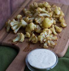 Spiced Roasted Cauliflower with Garlicky Aioli   SImple Bites #sidedish #vegetarian #glutenfree