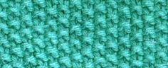 seed stitch, easier with an odd number cast