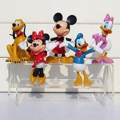 Mickey chiffres 10 CM grande taille Minnie Mouse Donald Canard de Bande Dessinée Winnie goofy chien daisy 5 pcs/lot Livraison Gratuite