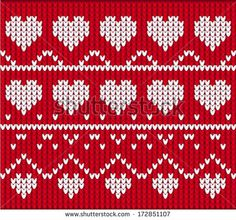 Ornamental Pattern For Knitting And Embroidery Heart Stock Photos, Images…