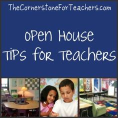 Back to School Night / Open House ideas - need these for next year?