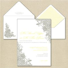 Lace Letterpress Invitation Suite DEPOSIT by apdesignco on Etsy, $100.00
