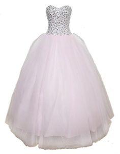 Albrose Long Tulle Quinceanera Wedding Dresses Bridal Gown for Bride 2015 US 4 Light Pink Albrose http://www.amazon.com/dp/B00UJA49N0/ref=cm_sw_r_pi_dp_s-L5vb0A66RZ1