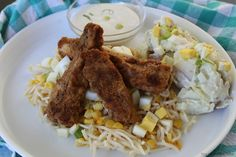 The Freshman Cook: Chicken Fried Cold Noodle Salad