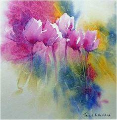 Cyclamen by Jane Betteridge #watercolor #flowers