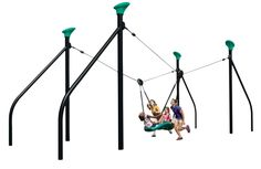 The coolest thing on the playground: Cruise Line  maybe not in your price point or maybe it won't fit in your backyard, but isn't this the coolest next generation swing!?!