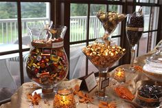 Our Fall Wedding Candy Buffet