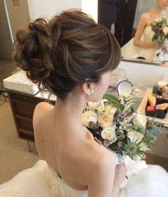 Pin by 丹婕 李 on wedding makeup & hair style in 2019 Bridal Hairdo, Bridal Hair Pins, Wedding Hair And Makeup, Hair Makeup, Asian Wedding Hair, Mother Of The Bride Hair, Bride Hairstyles, Prom Hair, Hair Inspiration